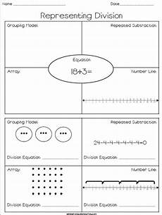 representing division free worksheet where students represent division using repeated subt