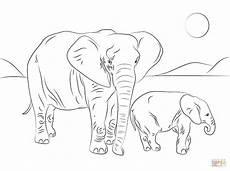 Ausmalbilder Afrikanischer Elefant Ausmalbild Afrikanische Elefantenfamilie Ausmalbilder