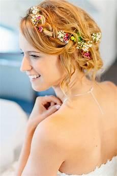Blumen Im Haar Hochzeit - sch 246 n blumenkranz haare frisur finden sie die beste