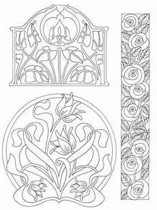 Jugendstil Malvorlagen Blumen Blumenmotive Im Nouvou Stil Jugendstil Blumen