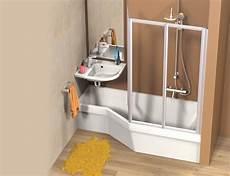 baignoire place baignoire et lavabo gain de place plusdeplace fr