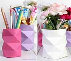 papier vasen basteln mit liebe diy origami vasen mit rautenmuster handmade kultur