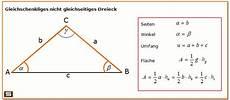 dreiecksberechnung gleichschenkliges dreieck