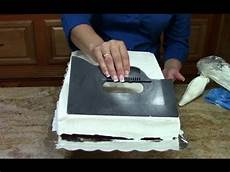 cake decorating how to ice a 1 2 sheet cake in butter