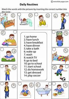 daily routines matching worksheets gram 225 tica inglesa