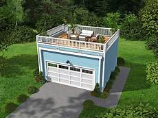garage with roof top deck 68437vr architectural designs house plans