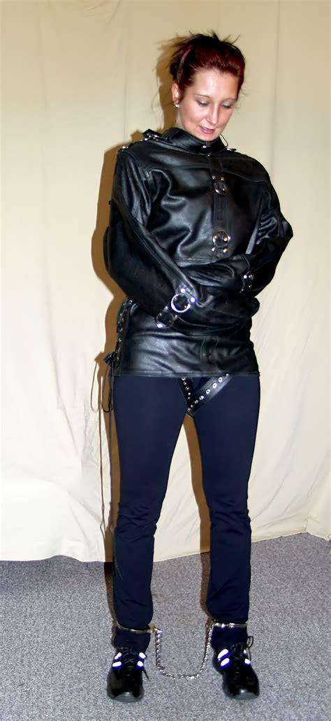 Girl In Latex Straitjacket
