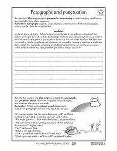 punctuation handwriting worksheets 20786 4th grade 5th grade writing worksheets punctuating a paragraph writing worksheets for 3rd