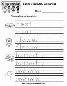 spring vocabulary worksheet free kindergarten seasonal