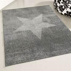 kurzflor teppich grau kurzflor teppich grau mit stern muster my1810s 160x220 cm