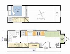 four lights tiny house plans 24 ft trailer large living room with propane fireplace