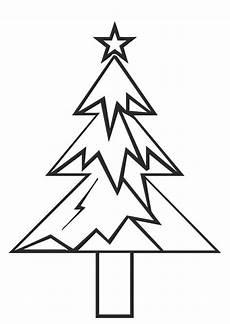 malvorlage tannenbaum mit weihnachtsstern ausmalbild