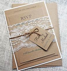 diy wedding invitations rustic diy rustic wedding invitation kit eco kraft and rustic lace