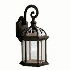 shop portfolio barrie 15 5 in h black outdoor wall light at lowes com