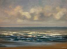 peinture tableau la plage soir huile sur toile