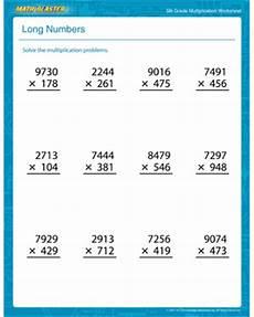 5th grade math worksheet multiplication numbers free printable multiplication worksheet for
