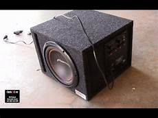 diy install dayton audio sa 70 subwoofer into a bbox enclosure youtube