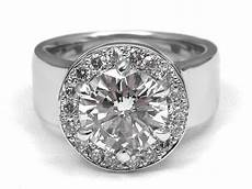 engagement ring wide band diamond halo engagement ring in 14k white gold es1269 mr mrs
