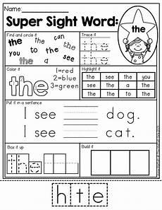 sight word worksheet new 503 sight word activities kindergarten pinterest