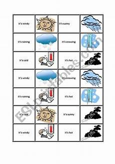 weather domino worksheets 14528 weather dominoes esl worksheet by hollyhirst