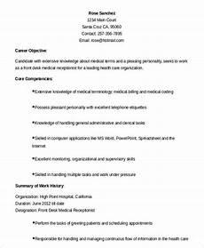 5 medical receptionist resume templates pdf doc free premium templates