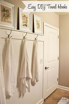 bathroom towel hook ideas easy diy towel hooks honeybear