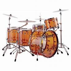 Ludwig Vistalite Zep Set 5 Drum Set Shell Pack 26