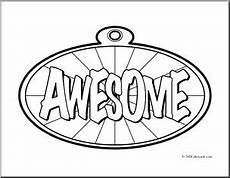 clip art awesome award coloring page i abcteach com abcteach