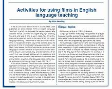 activities for using in english language teaching by arizio sweeting 171 ih journal