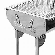 uten bbq barbecue 224 charbon pliable en acier inoxydable