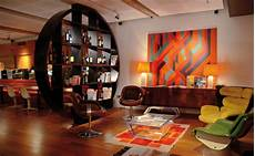 a 60s inspired apartment with a creative layout and upbeat 60s 60s