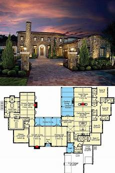 tuscan house plans single story 5 bedroom single story tuscan abode floor plan in 2020