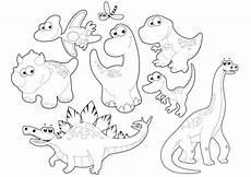Mewarnai Gambar Anak Dinosaurus Lucu Aneka Mewarnai Gambar