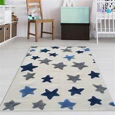 kinderzimmerteppich junge kinderzimmer teppich jungen blaue sterne teppich