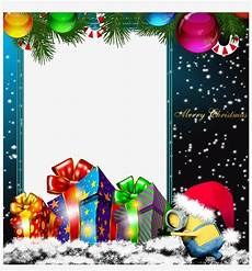 graphic library stock merry png minion photo frame merry christmas frames and borders free