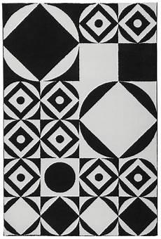 tapis design noir et blanc g 233 om 233 trique jersey