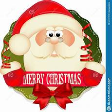 cute santa claus with banner merry christmas stock vector illustration of cute banner