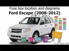 ford escape 2012 fuse box fuse box location and diagrams ford escape 2008 2012
