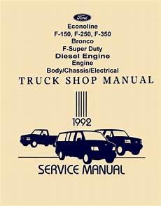 free car repair manuals 1992 ford f150 regenerative braking bishko oem repair maintenance shop manual bound for ford truck f150 350 1992 ebay