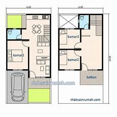 Denah Rumah 3 Kamar Ukuran 6x12 Jasa Desain Rumah