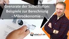 grenzrate der substitution beispiele zur berechnung