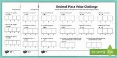 decimal place value worksheets grade 6 7649 decimal place value challenge differentiated worksheet