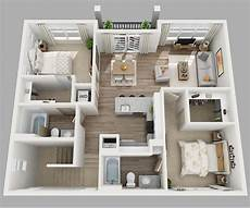 25 three bedroom houseapartment floor 20 designs ideas for 3d apartment or one storey three