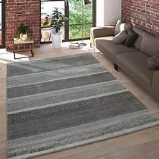 teppich grau kurzflor kurzflor teppich meliert gestreift grau teppichcenter24