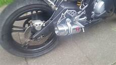 yamaha yzf r125 black widow sports exhaust start up sound
