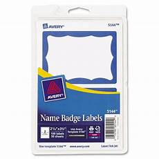 avery name badge labels 100 pk blue border ld products
