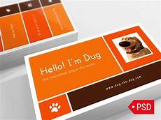 card template animation free psd orange business card by digital space dribbble