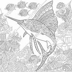 coloring pages for adults sea animals 17312 coloring pages for adults world sailfish fish etsy