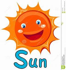 sun lettere alphabet s for sun stock vector illustration of design