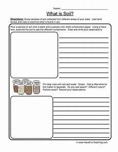 what is soil soil worksheet 1